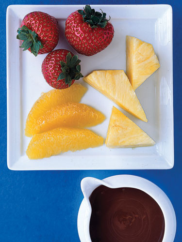 Microwave Chocolate Fondue no hunger diet recipe