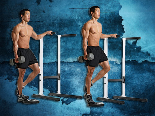 Dumbbell Calf Raise Instructions