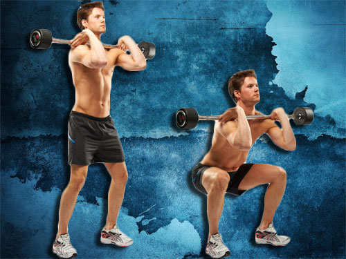 Barbell Front Squat Exercise instruction