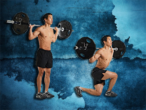 Barbell lunges Instruction