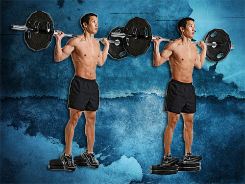 Barbell Reverse Calf Raise Instructions