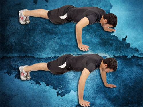 Wide arm pushup instructions